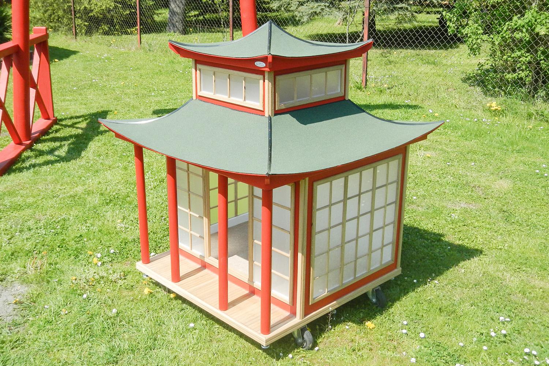 Japan Haus Hundehütte von Willi-Wood aus Holz