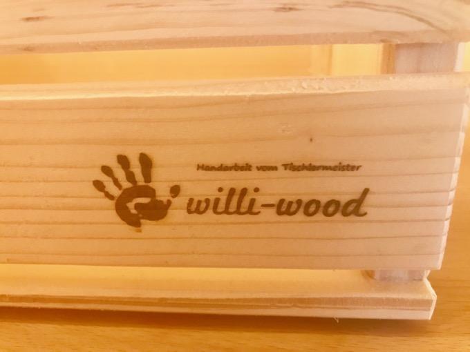 Original Willi-Wood Herrenhandtasche