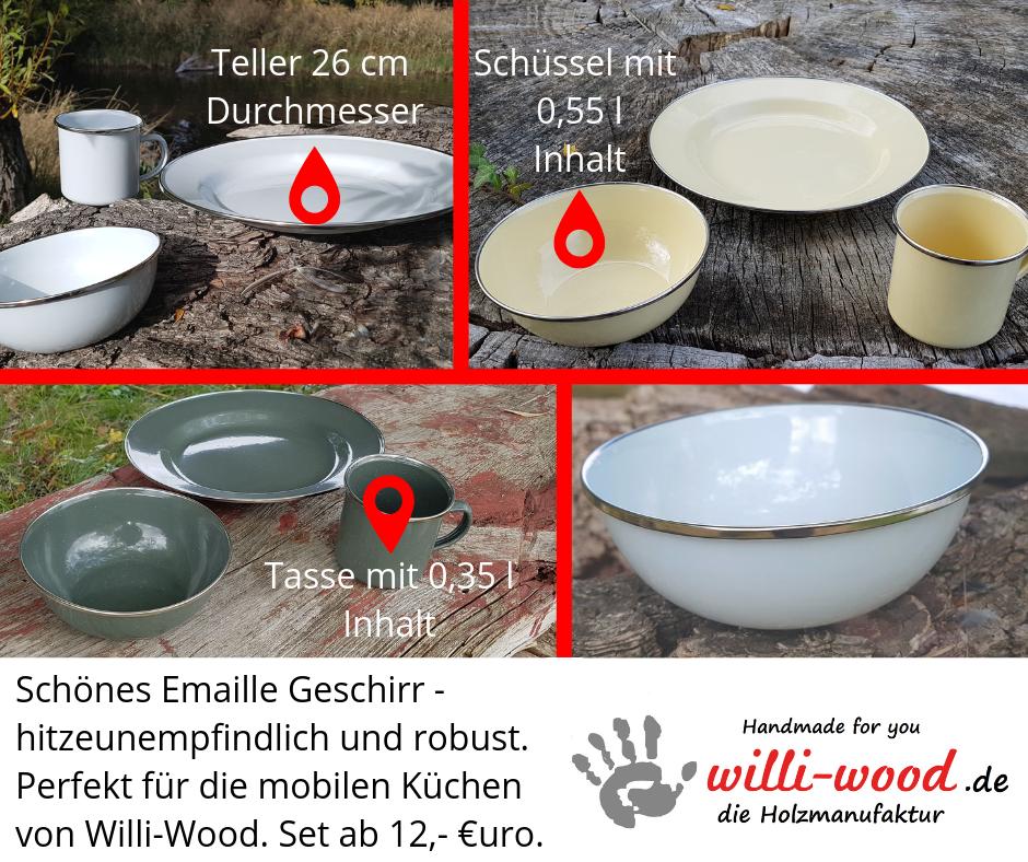 Emaille Geschirr von Willi-Wood